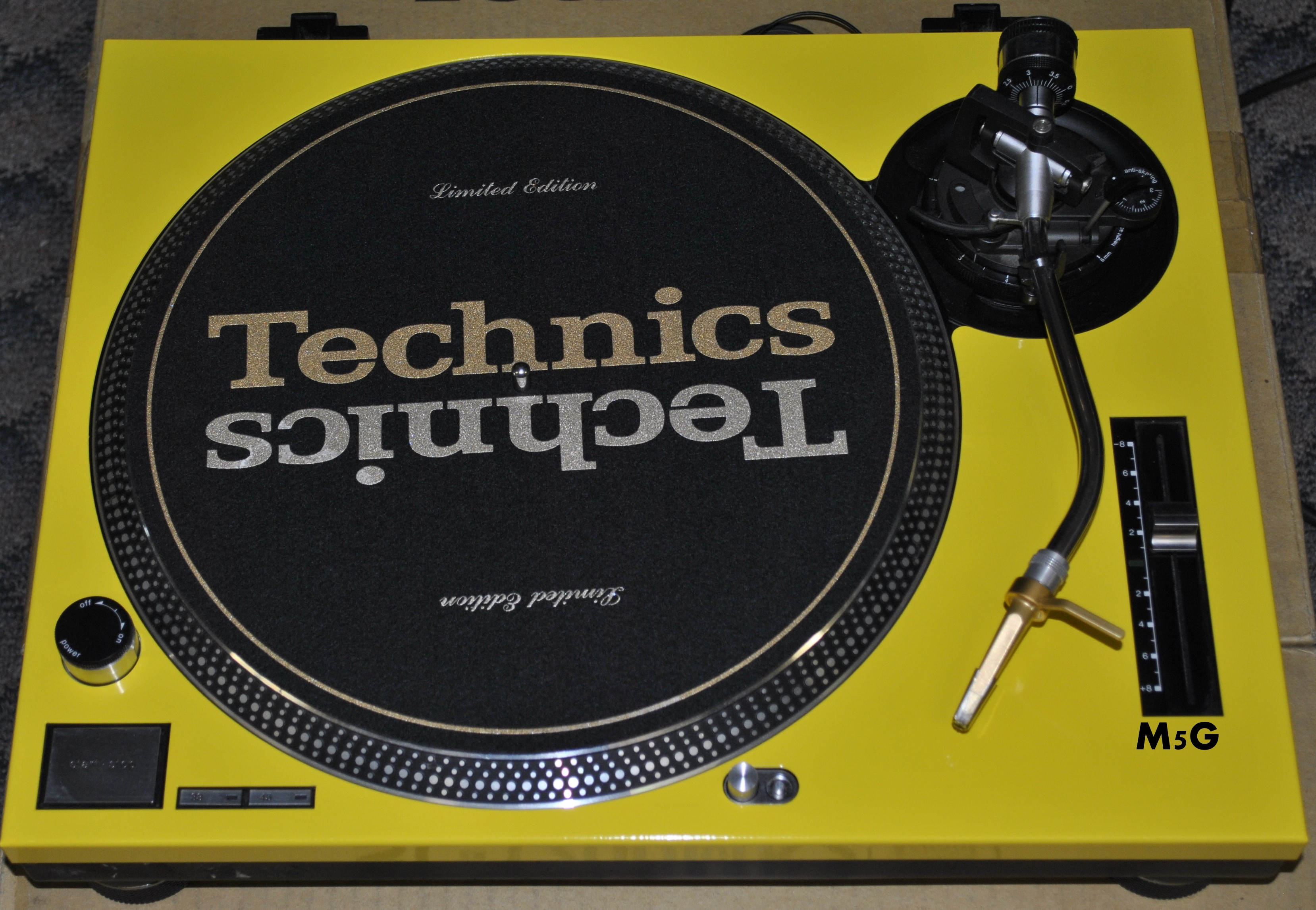 Technics Face Plate in Yellow for Technics SL-1200 / SL-1210 M5G Turntable