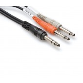 Hosa STP-203 3meter Insert Cable (1/4 in TRS to Dual 1/4 in TS)