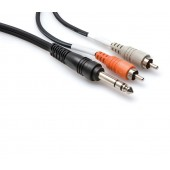 Hosa TRS-202 2meter Insert Cable (1/4 in TRS to Dual RCA)