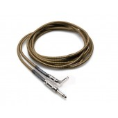 Hosa GTR-518R 18ft Tweed Guitar Cable (Straight to Right-angle)