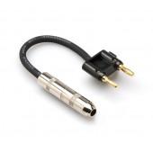 Hosa BNP-116BK 6inch Speaker Adaptor (Hosa 1/4 in TS to Dual Banana)