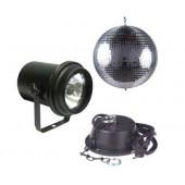 "American DJ M-500L 12"" Mirror Ball, A/C Motor, & UL Pinspot with Lamp"