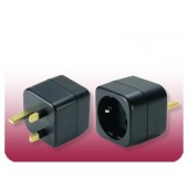 Seven Star Schuko to U.K. Grounded Adapter Plug MKV-17