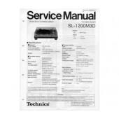 Technics SL-1200M3D Service Manual