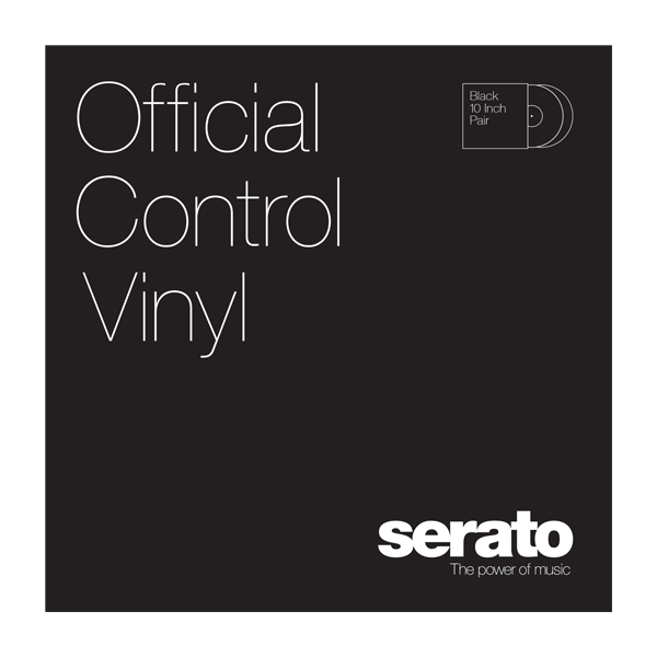 "10"" Serato Standard Colors (Pair) BLACK 10"" Control Vinyl"