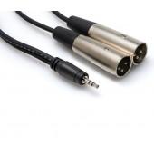 Hosa CYX-402M 2meter Stereo Breakout (3.5 mm TRS to Dual XLR3M)