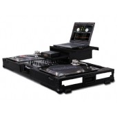 "Odyssey Flight FX3 Series 3 LED Panel Style Coffin Case With Wheels For Two Turntables In Battle Mode and a 12"" Mixer"