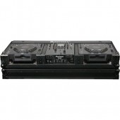Odyssey Cases FZ12CDJWBL Black Label Flight Zone DJ Coffin With Wheels For A 12 Mixer And Top Large Format Cd Players