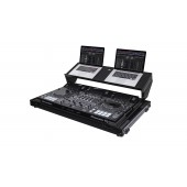 Odyssey Black Label Pioner DJ-RZX DJ Controller Producer Glide Style Low Profile Case with Angled Glide Platform and Wheels