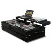 "Odyssey FZGSPBM10WBL Black Label DJ Coffin 2 Turntables + 10"" Mixer"