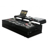 "Odyssey FZGSPBM12WBL Black Label DJ Coffin 2 Turntables + 12"" Mixer"