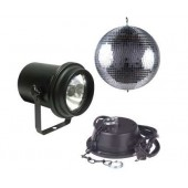 "American DJ M-100L 8"" Mirror Ball, A/C Motor & Pinspot with Lamp"