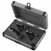 Ortofon Concorde Q.Bert CC Twin -  Black Body / White Stylus with Spherical Diamond